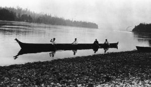 canoe in suquamish circa 1930s