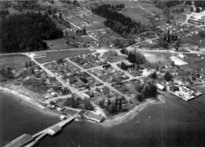 aerial view Silverdale 1952