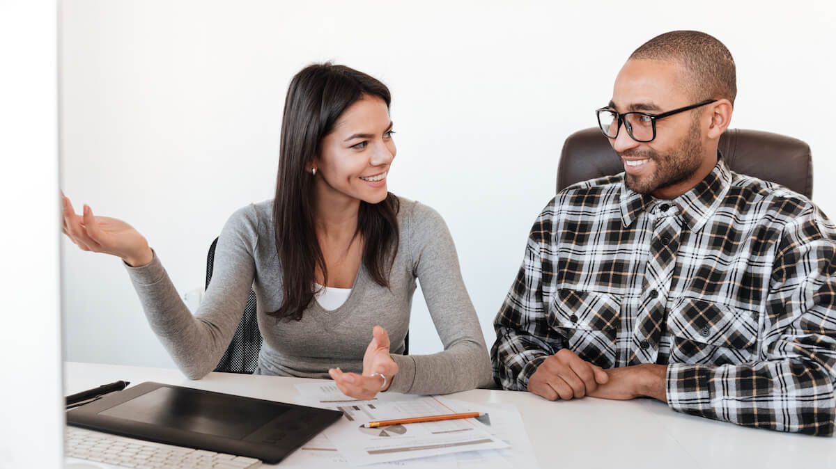 couple discussing investing